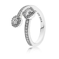 PANDORA Abstract Elegance Ring, Clear CZ: Precious Accents ...