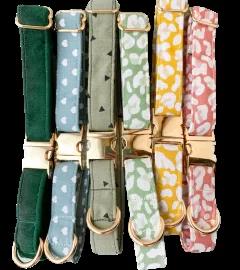 Handmade cotton dog collars