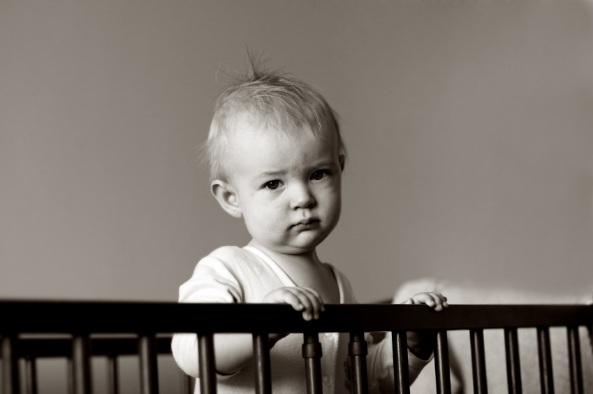 Image result for crying baby in crib