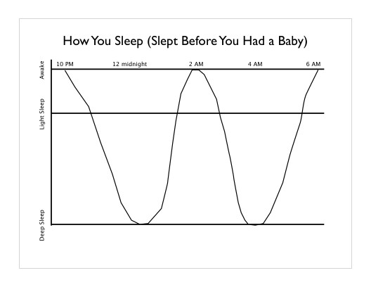 Infographic of Adult Sleep Cycles (light vs deep)