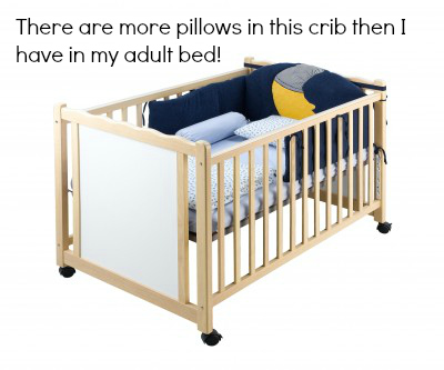no pillows in the baby crib