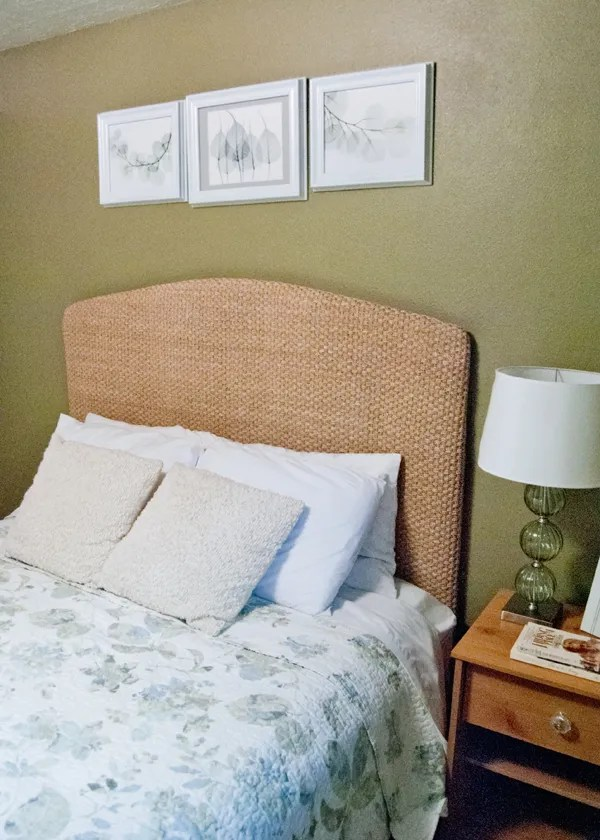 Pottery Barn Knock-off Seagrass Headboard1