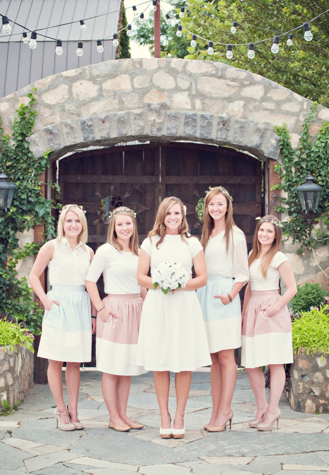 Color Block Party Skirt Bridesmaids