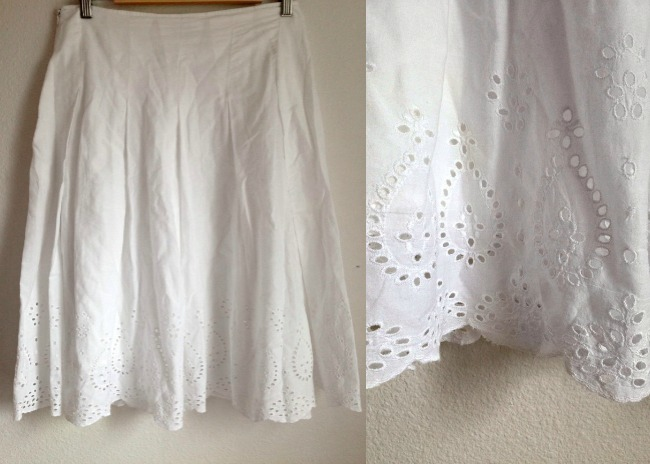 Eyelet Skirt Refashion (BEFORE) | Preciously Paired