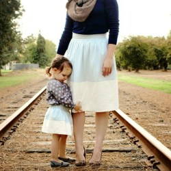 Mother/Daughter Color Block Skirts