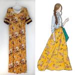 Floral Maxi Skirt Refashion
