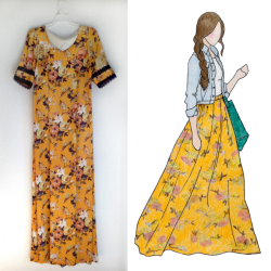 Floral Maxi Skirt Refashion