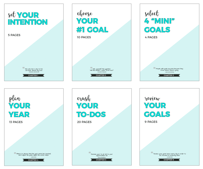 Slay Your Goals Planner Contents