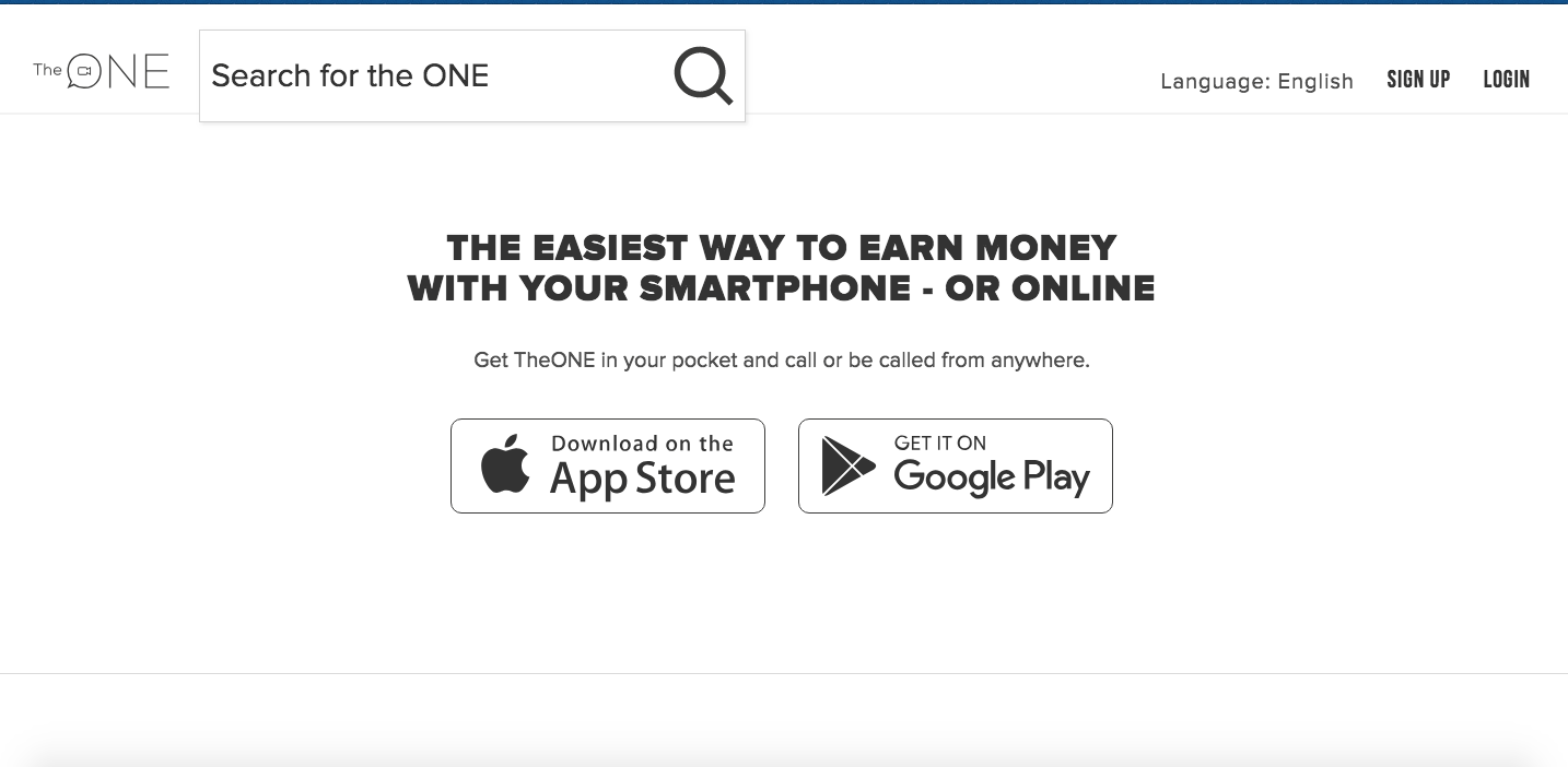 get paid to tutor online with the one app homepage