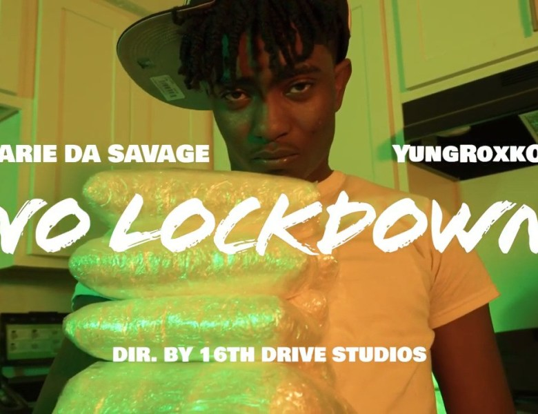 """RarieDaSavage Stands In The Kitchen With YungRoxkOut In """"No Lockdown"""""""