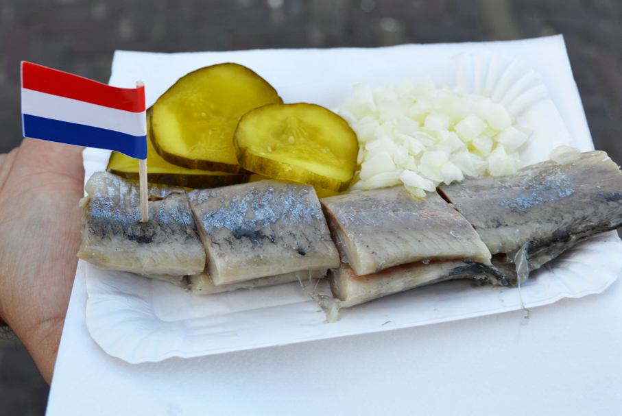 Pickled Herring in Marken, Netherlands