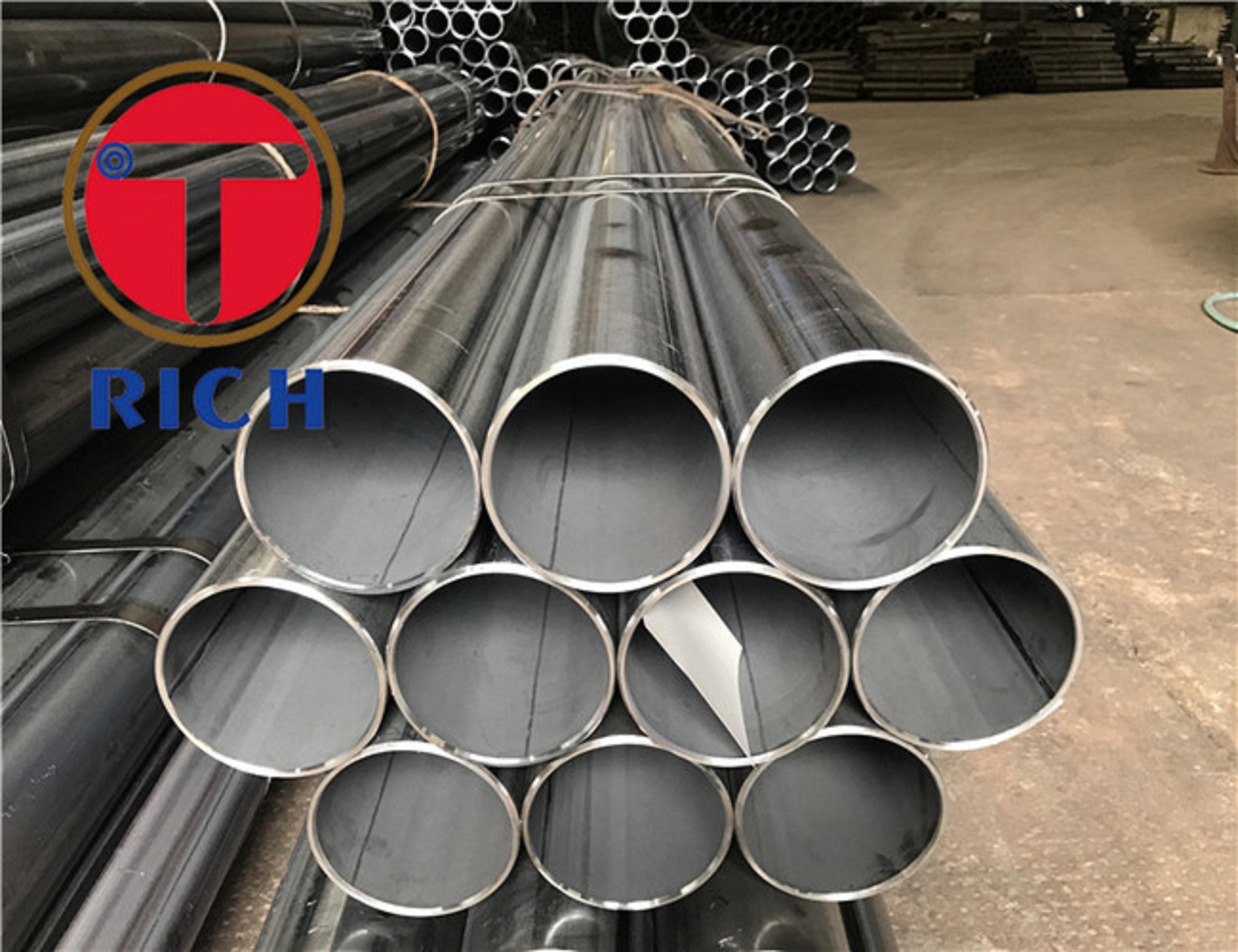 Welded Precision Steel Tube E275 E355 Fluid / Gas Transport Decoration EN10305-2 E195
