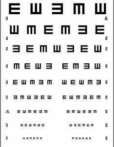 Tumbling  ce   visual acuity chart also  meters precision vision rh