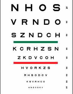 Sloan striped visual acuity chart also pediatric testing charts precision vision rh