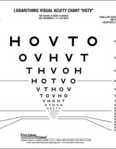 Hotv eye test chart for near distance single sided also precision vision rh