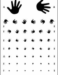 foot distance hand visual acuity chart also precision vision rh