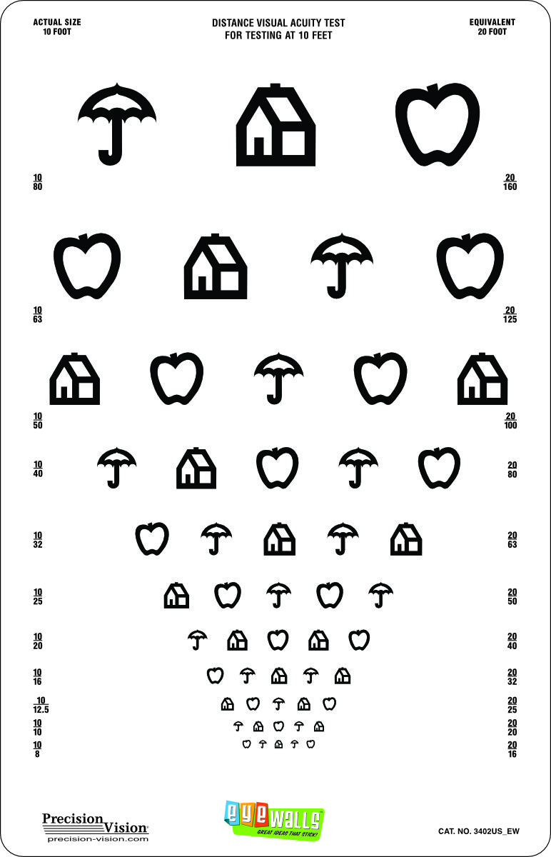 EyeWalls™ Peel/Stick Proportional Spaced Translucent
