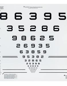 Lighthouse numbers chart lh  also precision vision rh