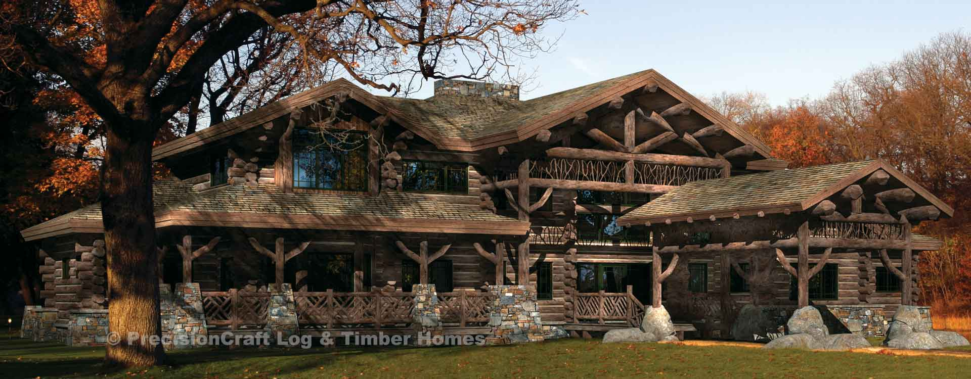 Ticonderoga Luxury Log Lodge Plan