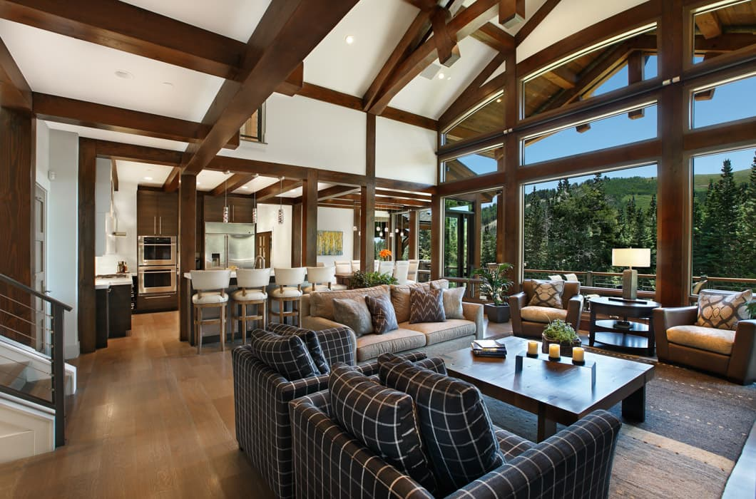 contemporary living room design styles sofa set designs for small india park city residence | utah modern timber frame home
