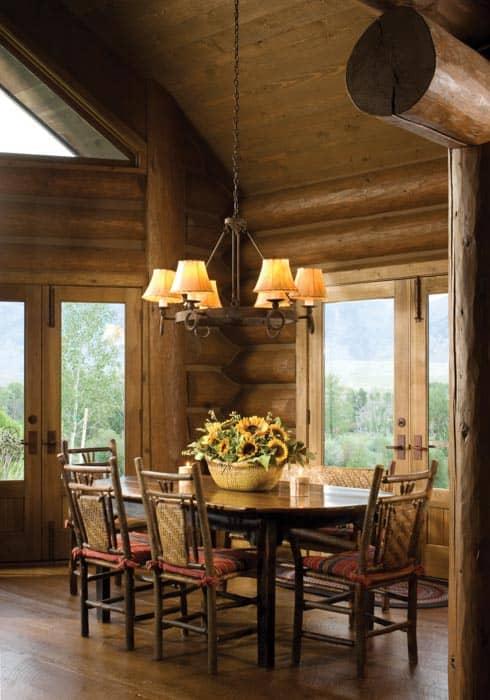 Sun Valley Idaho Log Home Precisioncraft Log And Timber