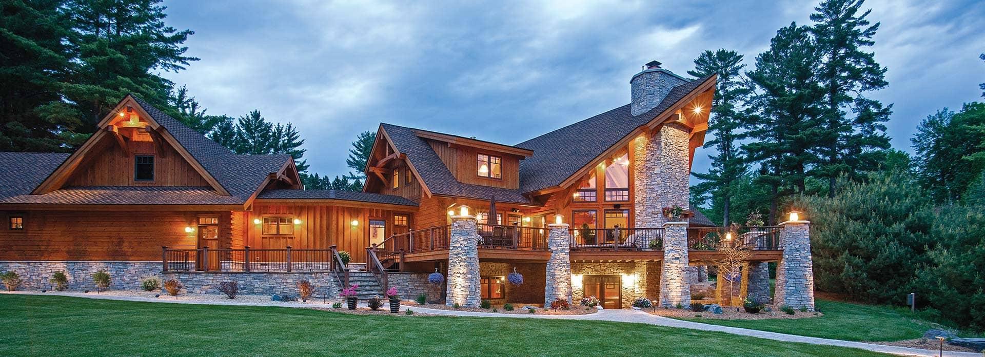 Hybrid Log & Timber Frame Homes PrecisionCraft