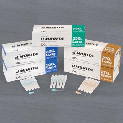 J. Morita Disposable Dental Needles 25 G Long (30 mm)