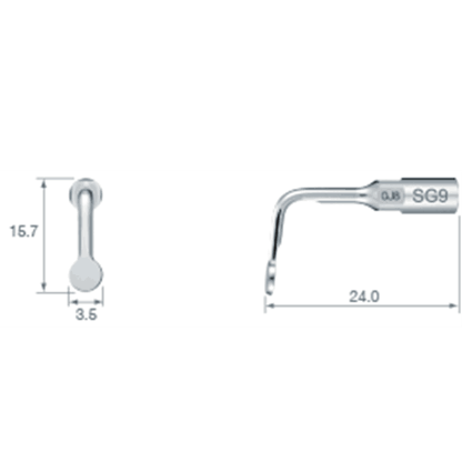NSK VarioSurg Piezo Surgical Sinus Membrane Tip SG9