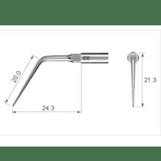 NSK Varios Ultrasonic Scaler Endo Tip E6