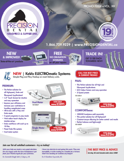 Precision Dental's Promo Flyer