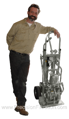 Portable Filter Cart (Pneumatic Powered) | Precision Filtration Products