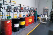 Color-Coded Lubricant Barrels | Precision Filtration Products