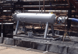 High-Flow Horizontal Portable Filter Vessel on a Skid