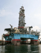 Offshore Drilling Rig in Gulf of Mexico