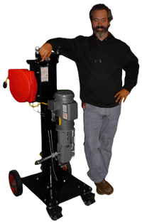 Johnny with Liquid Cartridge Portable Filter Cart | Precision Filtration Products