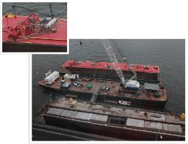 River Barge Desilting Bag Filter Vessel
