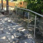 External post and rail balustrade