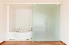 Large bathroom sliding door