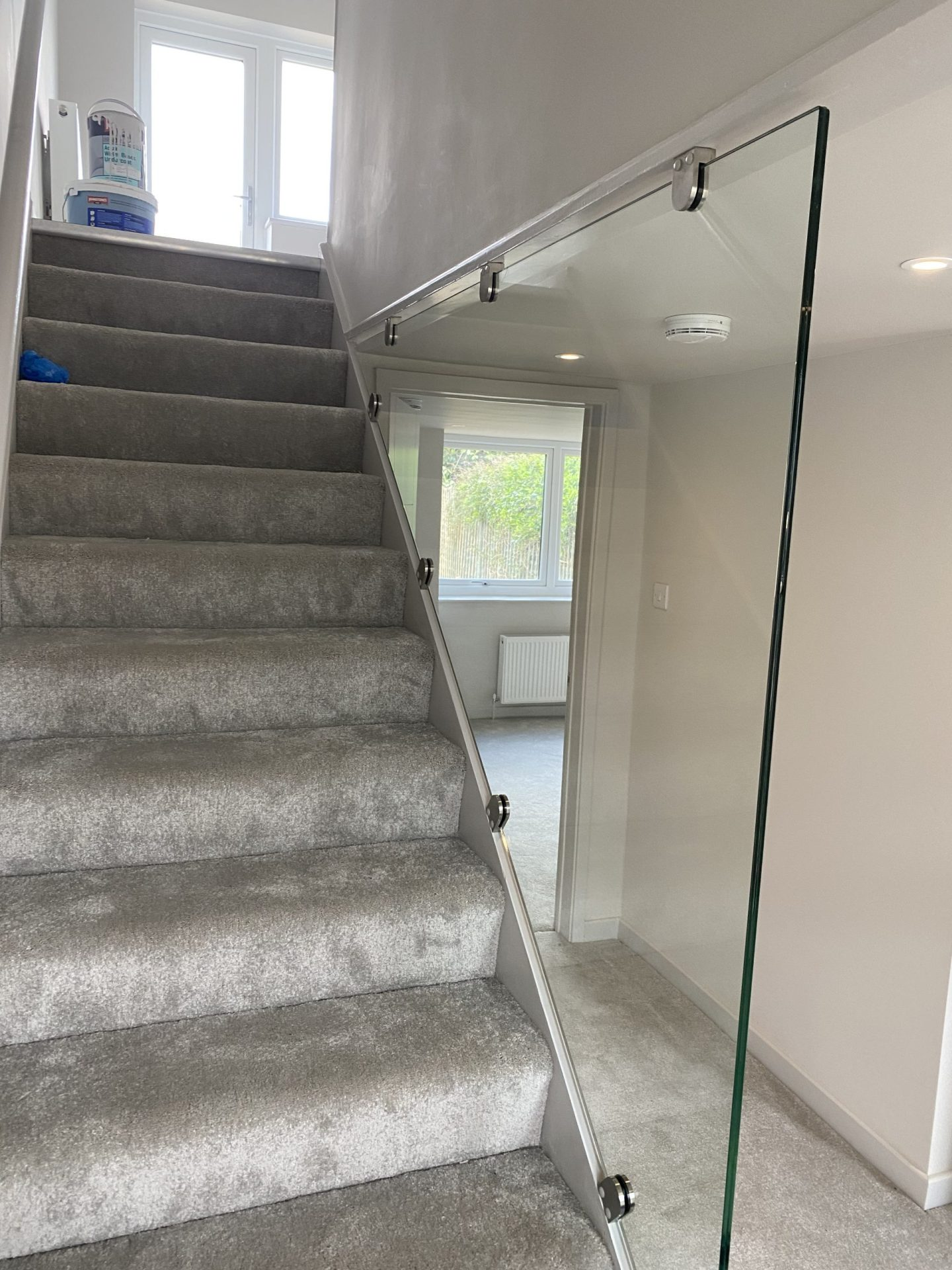 Full height infill panel to stair
