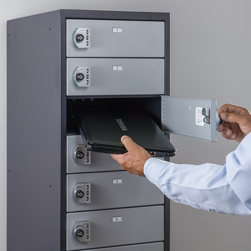 "Snapchargeâ""¢ Laptop Locker 7 Doors Precision Locker"
