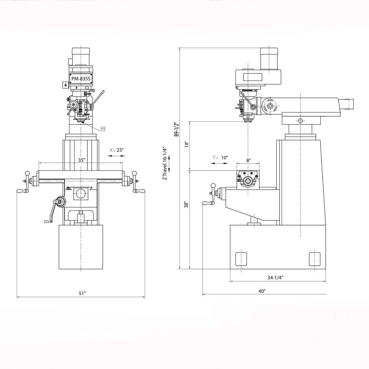 NEW! PM-835S Milling Machine