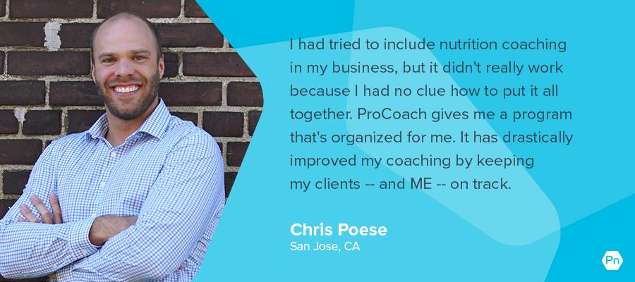 Chris Poese - testimonial card