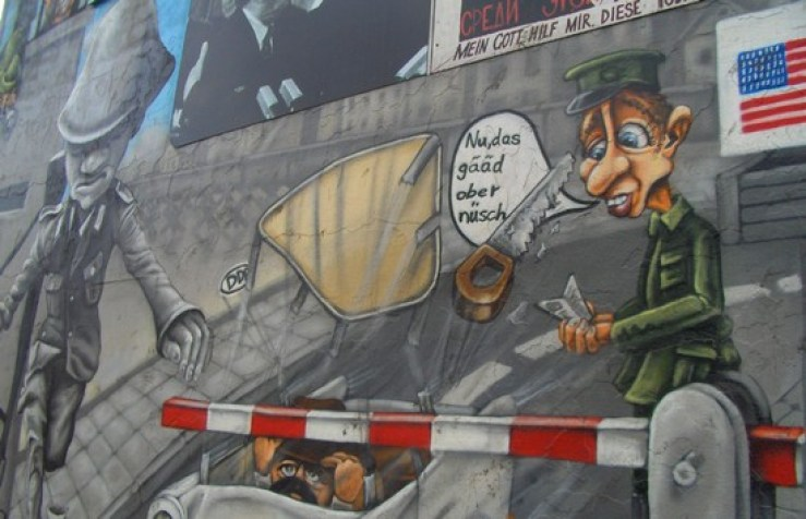 Parte do que sobrou do muro em Berlin