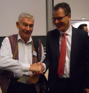 Fr Shay with Dr Gerd Müller, Federal Minister of Economic Cooperation and Development.