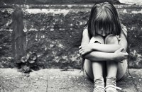 Depressed little girl