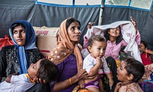 The Kuala Langsa refugee camp in Sumatra