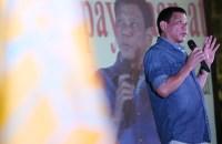 February 21, 2015 Davao Mayor Rodrigo Duterte  during the 33rd Anniversary of the PDP Laban where Duterte clarifies that he is not running for President. INQURER/ MARIANNE BERMUDEZ