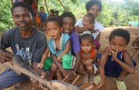 An Aeta Family  helped by the Preda Foundation in Zambales.