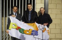 Helping to launch PREDA's Freedom Day Song competition were Colm O'Brien, PREDA Supporter ,MD Carambola School Lunches Sorted, Damien Dempsey and Philip Cribbin, Chairperson PREDA Ireland