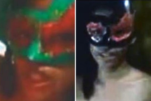Accomplices … Two masked women appeared in what is considered to be his most evil rape video